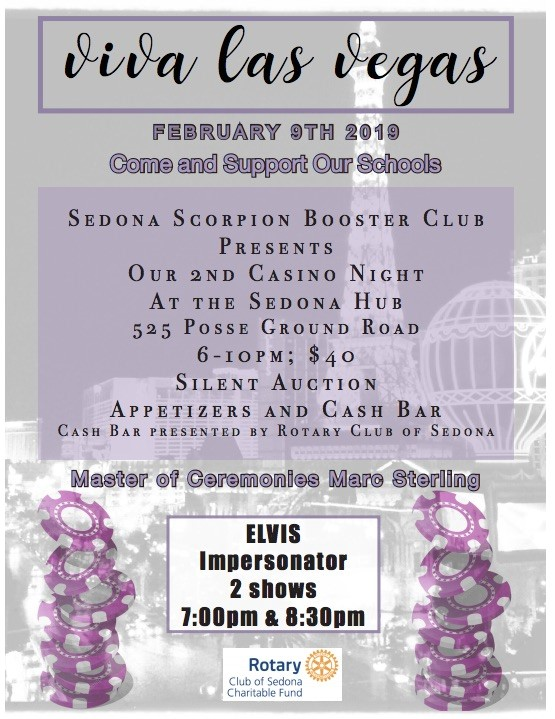 Casino Night benefit for the Scorpions - February 9 at the Hub