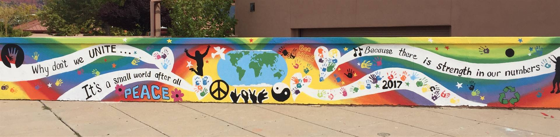 Peace Mural at West Sedona School