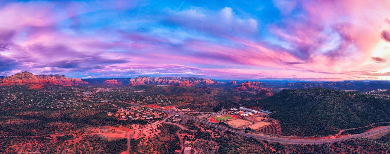 Sunset View of School