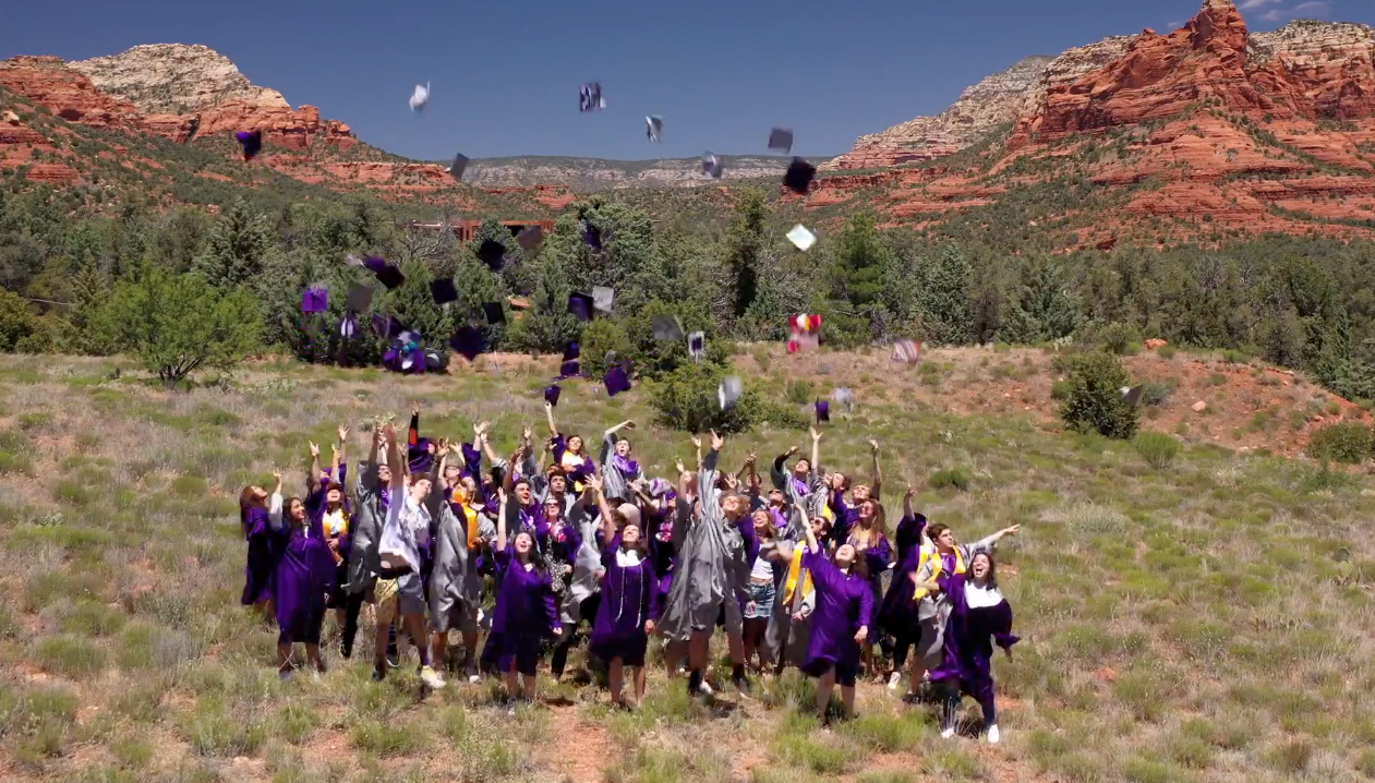 Graduates Caps in the Air