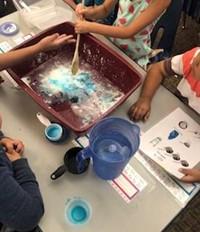 Kindergarten Students Making Slime